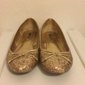 ✨ Glittery gold ballet flats from forever 21